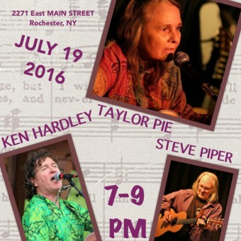 Ken Hardley, Taylor Pie and Steve Piper at Greenhouse Cafe