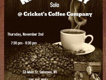 Ken Hardley at Cricket's Coffee Company
